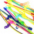 Plastic colourful zip bracelets for children - 12 pieces